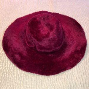 Duchess vintage burgundy red hat